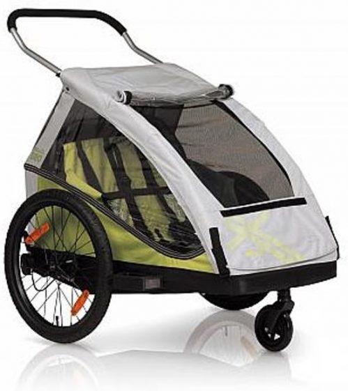 XLC Duo² Fietskar - 2 Kinderen - Zilver/Groen